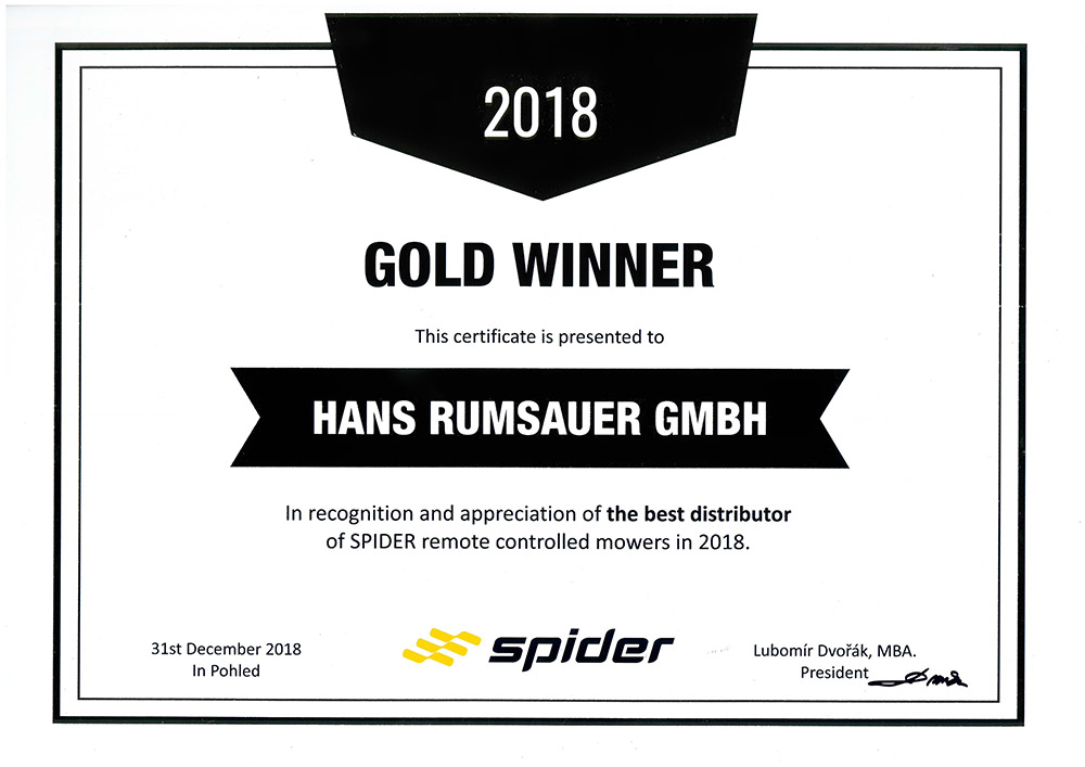 Spider Gold Winner 2018